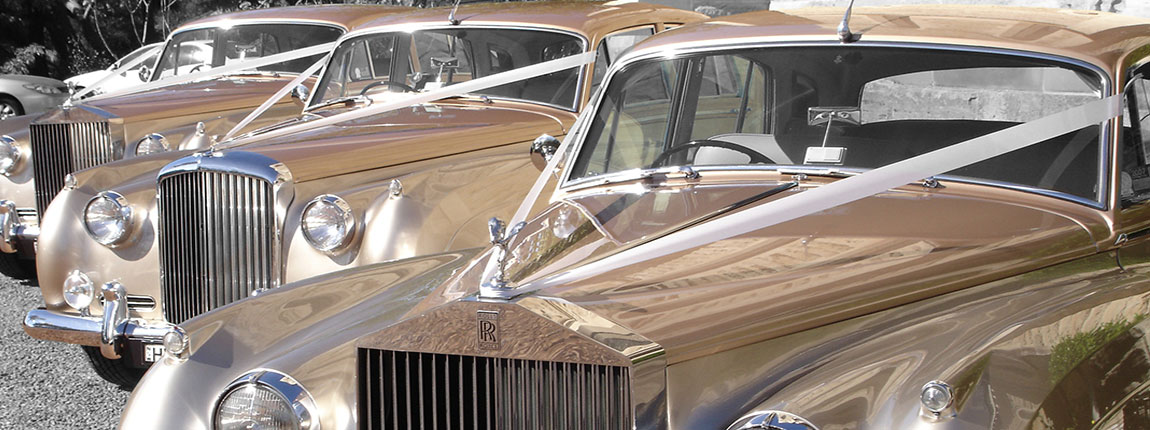 Classic Rolls Royce And Bently Wedding Cars